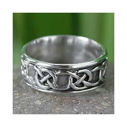 Sterling Silver 'Love's Geometry' Band (Thailand)