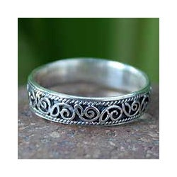 Sterling Silver 'Feminine' Band (Thailand)