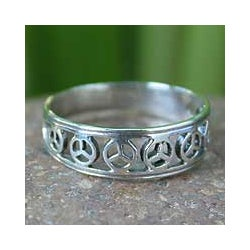 Sterling Silver 'Plea for Peace' Band (Thailand)