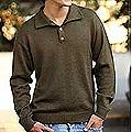 Men's Alpaca Wool 'Olive' Sweater (Peru)