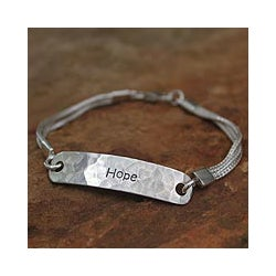 Sterling Silver 'Always Hope' Bracelet (Thailand)