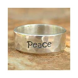 Sterling Silver 'Spirit of Peace' Band (Thailand)