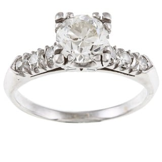 Platinum 1 1/3ct TDW Vintage Engagement Ring (I-J, VS1-VS2)