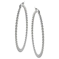 Stainless Steel Twist Hoop Earring