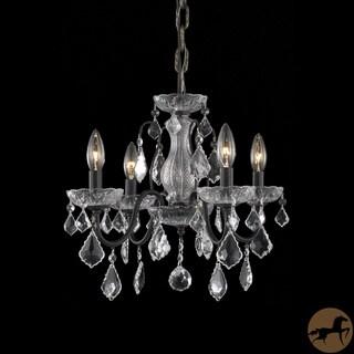 Christopher Knight Home Crystal 4-light Dark Bronze Chandelier