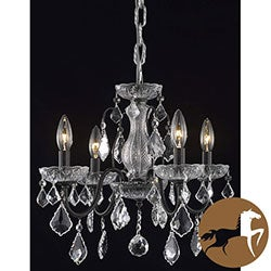 Christopher Knight Home Crystal 4-light Dark Bronze Chandelier