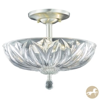 Christopher Knight Home Crystal 3-light Chrome Flush-mount Chandelier