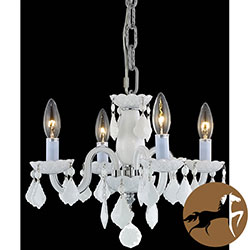 Christopher Knight Home Crystal 4-light White Chandelier