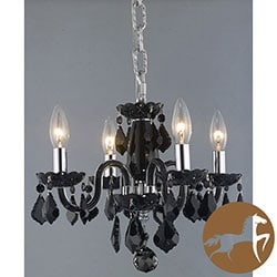 Christopher Knight Home Crystal 4-light Black Chandelier