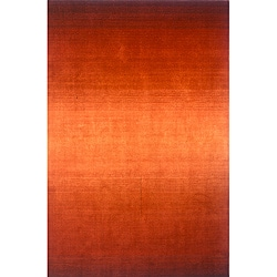 Hand-tufted Manhattan Ombre Orange Wool Rug (9'6 x 13'6)