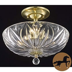 Christopher Knight Home Crystal 3-light Gold Flush-mount Chandelier