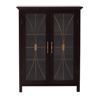 Veranda Bay Dark Espresso 2 Door Floor Cabinet