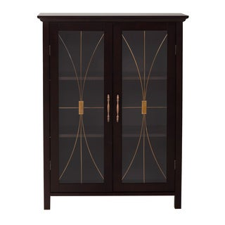 Veranda Bay Dark Espresso 2 Door Floor Cabinet by Elegant Home Fashions