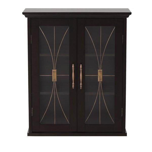 veranda bay dark espresso wall cabinet