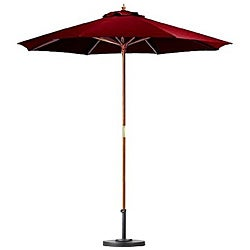 Premium 9-foot Brick Red Patio Umbrella with Base