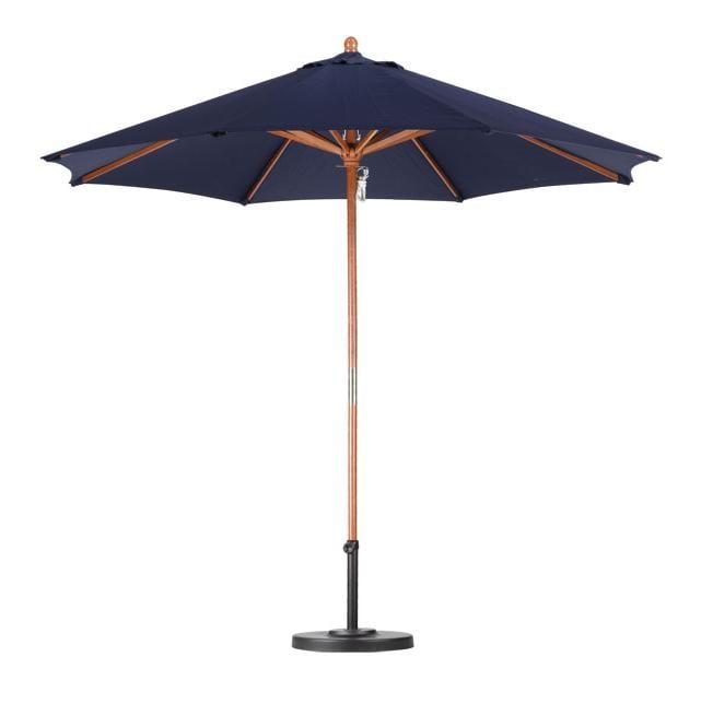 Lauren & Company Premium 9-foot Navy Blue Patio Umbrella with Base