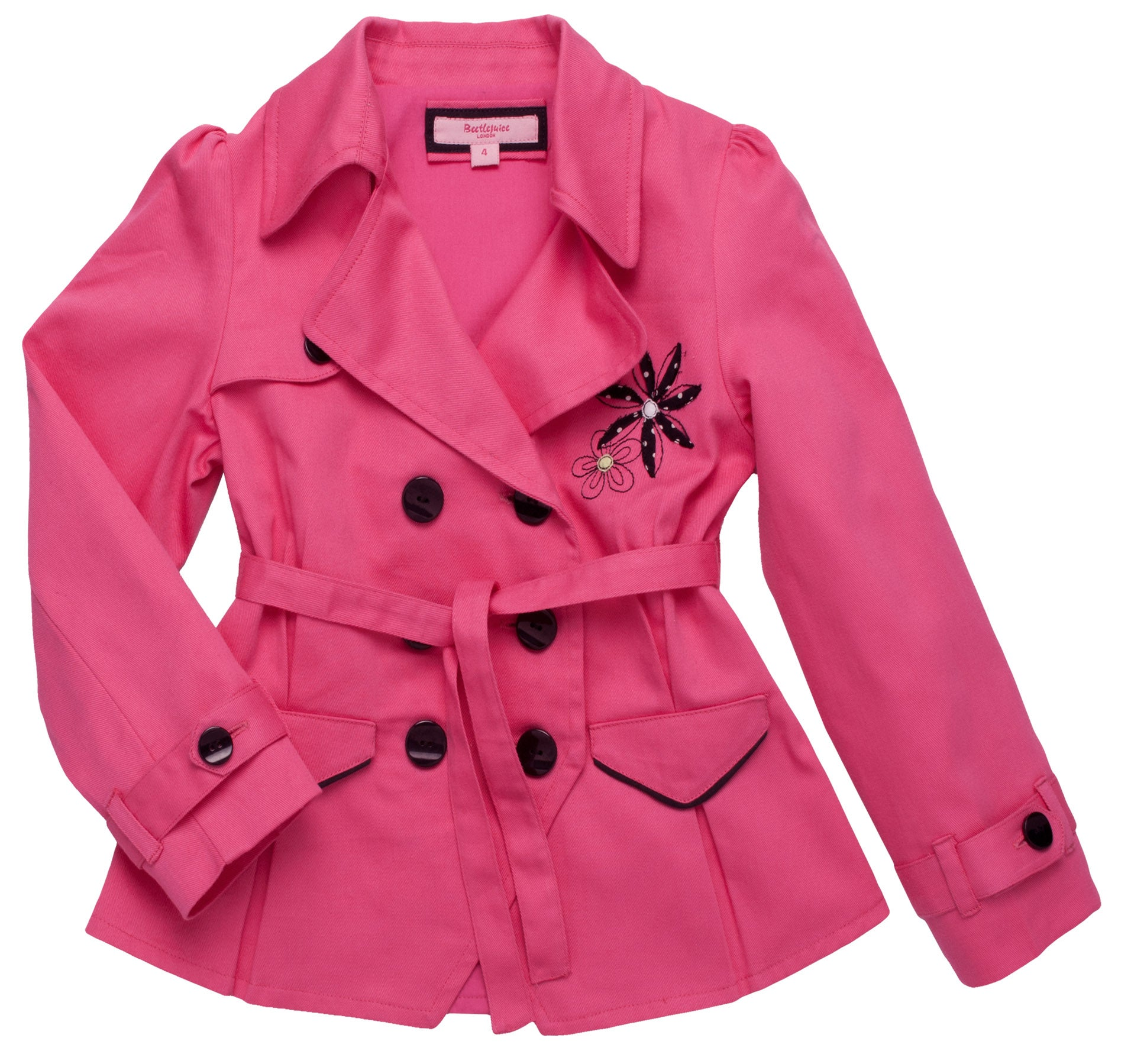 Beetlejuice London Girls Pink Cotton Jacket