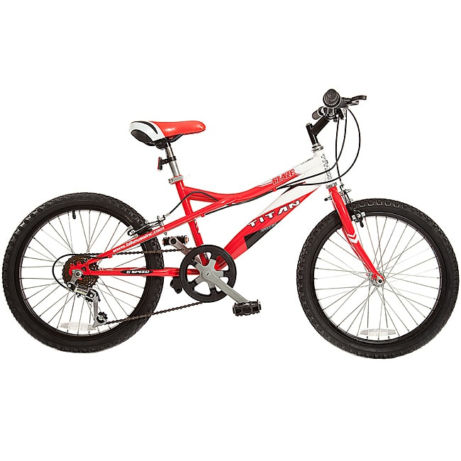 Titan Blaze Red/ White 20-inch BMX Bicycle