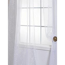 White Faux Organza 108-inch Sheer Curtain Panel Pair