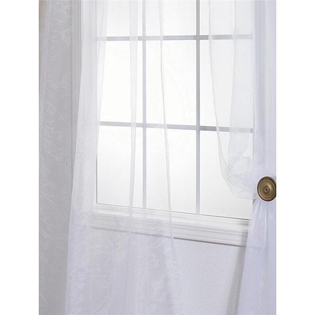 EFF White Faux Organza Sheer Curtain Panel Pair at Sears.com