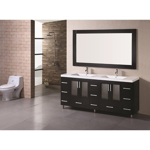 Element Stanton  Inch Double Sink Bathroom Vanity With Vessel Sinks