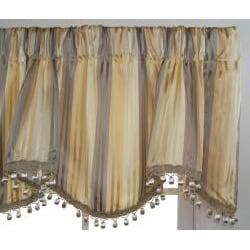 Discreet Silk Stripe Cornice Valance