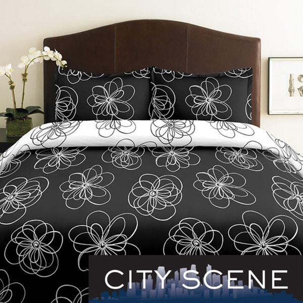City Scene Luna 2-piece Twin-size Duvet Cover Set