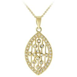 Icz Stonez 14k Yellow Goldplated Cubic Zirconia Raindrop Necklace