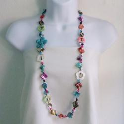 Mother of Pearl Multicolor Floral Necklace