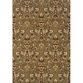 Romana Green/Beige Traditional Area Rug (3'10 x 5'5)