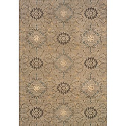 Hayworth Grey/Brown Transitional Area Rug (5'3 x 7'6)