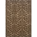 Hayworth Brown/Brown Area Rug (5'3 x 7'6)