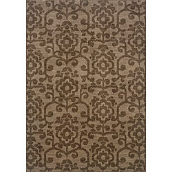 Hayworth Brown/Brown Area Rug (6'7 x 9'6)