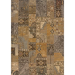 Romana Gold/Grey Area Rug (6'7 x 9'6)
