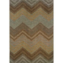 Hayworth Brown/Blue Area Rug (7'8 x 10'10)