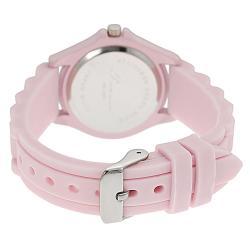 Tressa Women's Rhinestone-Accented Pink Silicone Watch