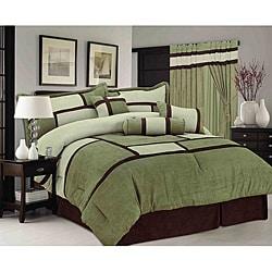 Sage/ Green Chelsea Contemporary 7-piece Comforter Set