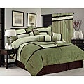 Sage/ Green Chelsea Contemporary 7-piece Comforter Set