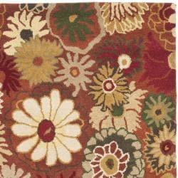 Safavieh Handmade Jardine Summer Rust Wool Rug (8' x 10')
