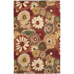 Safavieh Handmade Jardine Summer Rust Wool Rug (4' x 6')