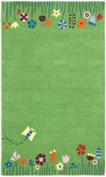 Handmade Children's Summer Grass Green N. Z. Wool Rug (4' x 6')