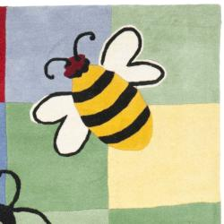 Handmade Children's Garden Friends N. Z. Wool Rug (8' x 10')