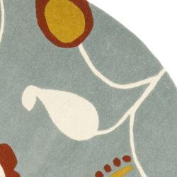 Safavieh Handmade New Zealand Wool Mirage Brown Rug (6' Round)
