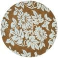 Handmade New Zealand Wool Bliss Light Brown Rug (6' Round)
