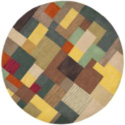 Safavieh Handmade New Zealand Wool Deco Square Rug (6' Round)