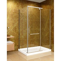 Aston Clear 48x35-inch 10mm Glass Shower Enclosure/ Base