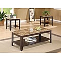 Cappuccino/ Marble Top 3-piece Promotional Table Set