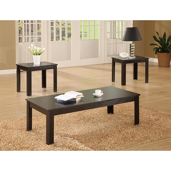 Black 3-piece Occasional Table Set