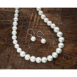 Fashion Forward Glass Faux Pearl Jewelry Set