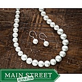 Fashion Forward Glass Faux Pearl Jewelry Set